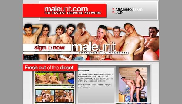 Maleunit.com 가입하기