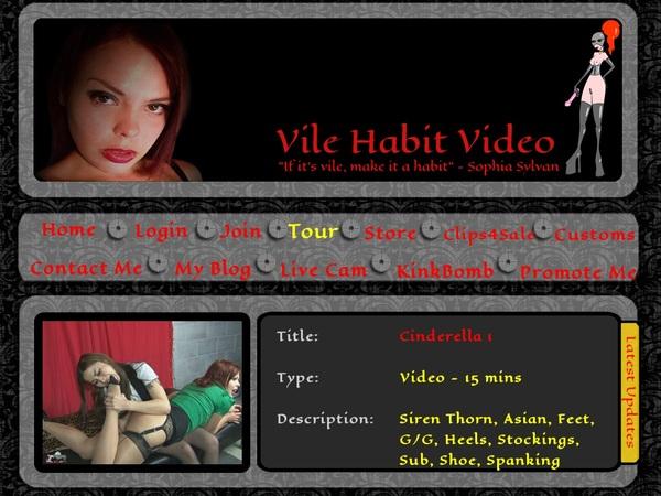 Vile Habit - Sophia Sylvans Credits