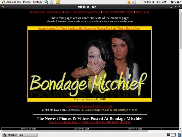 Bondage Mischief Logon