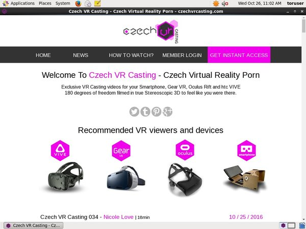 Free Czechvrcasting Accounts Premium
