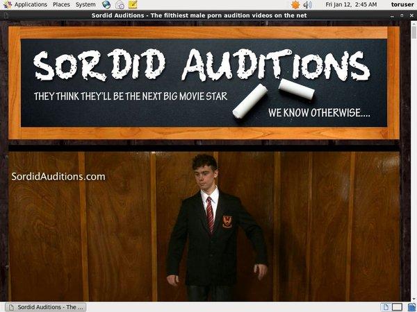 Free Sordid Auditions Premium Account
