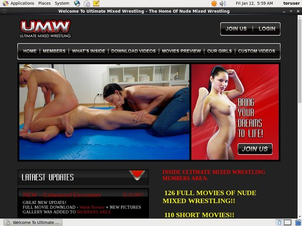 Ultimate Mixed Wrestling Accounts And Passwords